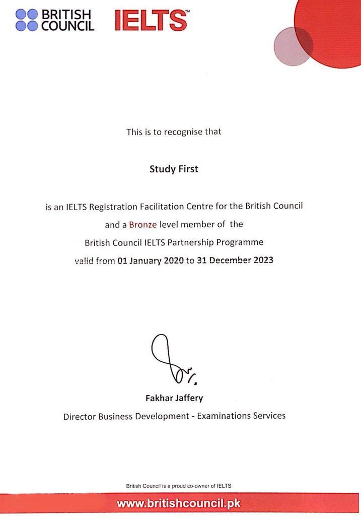 IELTS Certificate For Center
